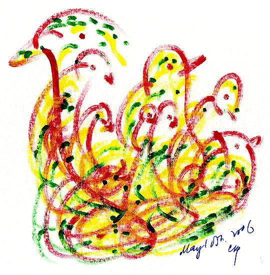 Малюнок птахів-душ